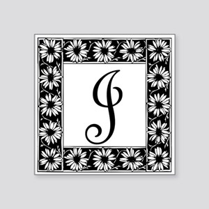 Sunflower Border Letter J Sticker