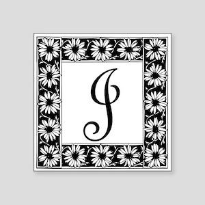 Sunflower Border Letter J Sticker