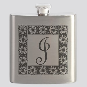 Sunflower Border Letter J Flask