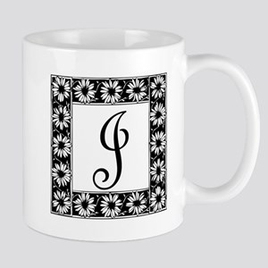 Sunflower Border Letter J Mugs