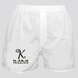 Letter K Sunflowers Boxer Shorts