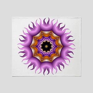 Fiery Kaleidoscope Throw Blanket