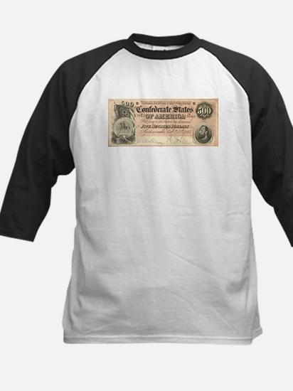 Confederate $500 Bill Kids Baseball Jersey