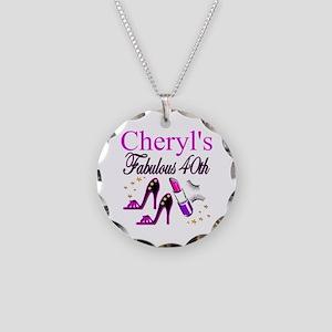 CUSTOM 40TH Necklace Circle Charm