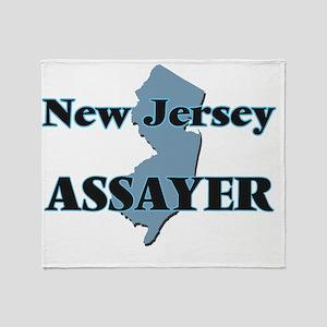 New Jersey Assayer Throw Blanket