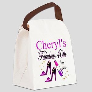 CUSTOM 40TH Canvas Lunch Bag