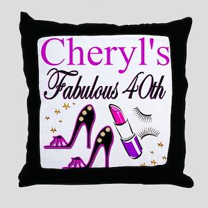 CUSTOM 40TH Throw Pillow