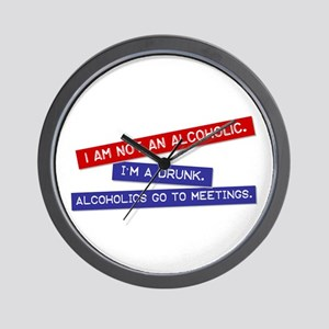 """not an alcoholic"" Wall Clock"