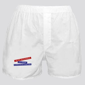 """not an alcoholic"" Boxer Shorts"