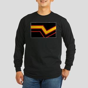 Rubber Pride Flag Long Sleeve Dark T-Shirt
