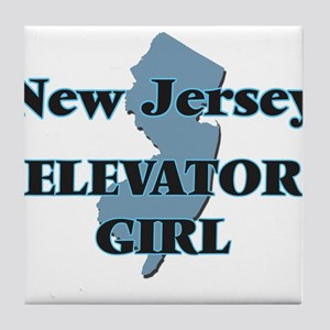 New Jersey Elevator Girl Tile Coaster