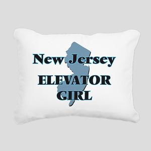 New Jersey Elevator Girl Rectangular Canvas Pillow