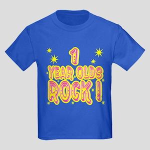 1 Year Olds Rock ! Kids Dark T-Shirt