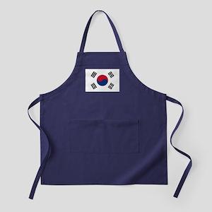 South Korea Flag Apron (dark)