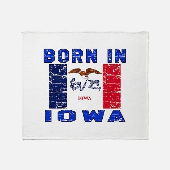 Born in Iowa Throw Blanket