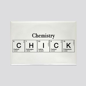 Chemistry Chick Rectangle Magnet