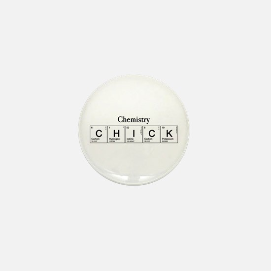 Chemistry Chick Mini Button