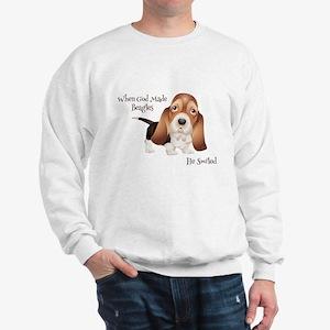 When God Made Beagles Sweatshirt