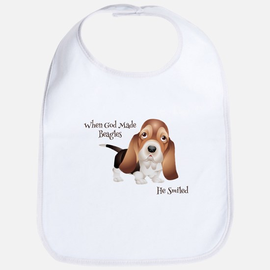 When God Made Beagles Bib