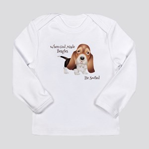 When God Made Beagles Long Sleeve T-Shirt