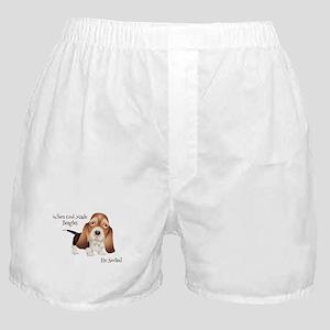When God Made Beagles Boxer Shorts