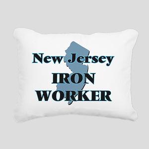 New Jersey Iron Worker Rectangular Canvas Pillow