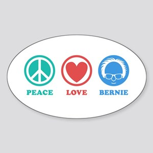 Peace Love Bernie Icons Sticker