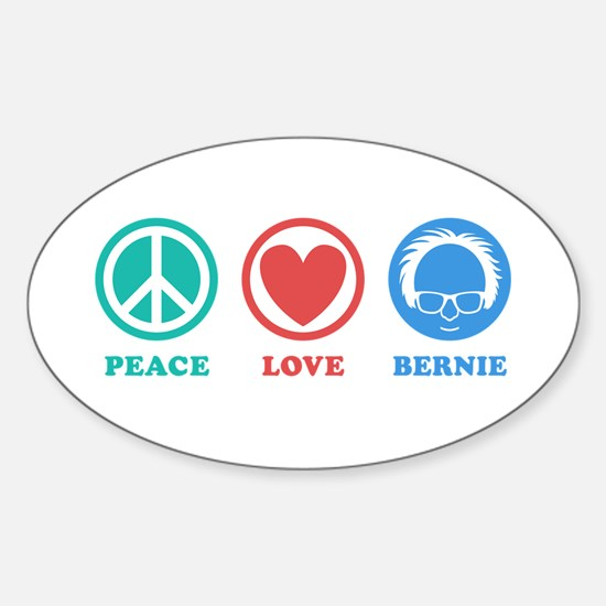 Peace Love Bernie Icons Decal
