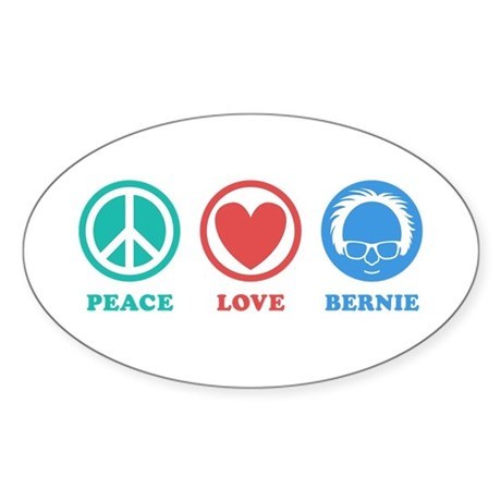 Peace Love Bernie Icons Sticker