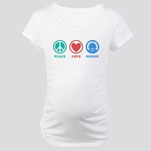 Peace Love Bernie Icons Maternity T-Shirt