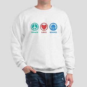 Peace Love Bernie Icons Sweatshirt