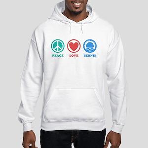 Peace Love Bernie Icons Hoodie
