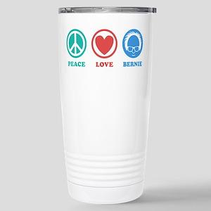 Peace Love Bernie Icons Travel Mug