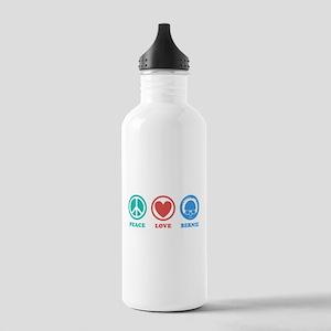Peace Love Bernie Icons Water Bottle