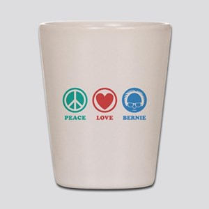 Peace Love Bernie Icons Shot Glass