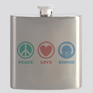 Peace Love Bernie Icons Flask