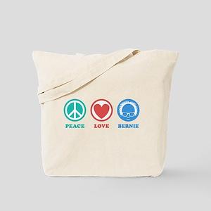 Peace Love Bernie Icons Tote Bag