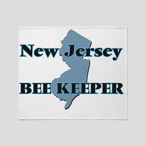 New Jersey Bee Keeper Throw Blanket