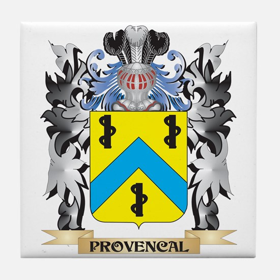 Provencal Coat of Arms - Family Crest Tile Coaster