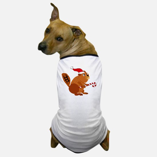 Funny Beaver Christmas Dog T-Shirt