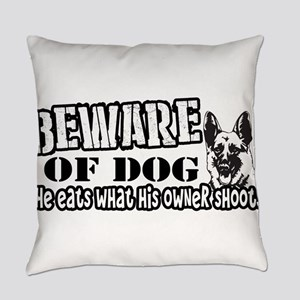 Beware of Dog Everyday Pillow