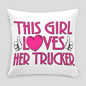 Trucker Love Everyday Pillow