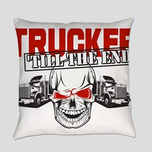Trucker 'Till The End Everyday Pillow