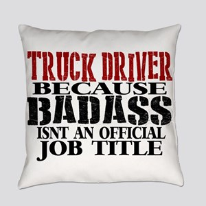 Badass Trucker Everyday Pillow