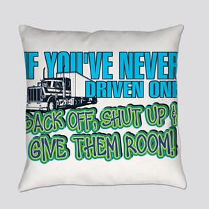 Trucker Back Off Everyday Pillow