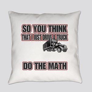 Trucker Do The Math Everyday Pillow
