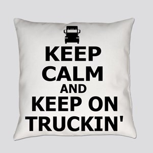 Keep Calm and Keep on Truckin Everyday Pillow