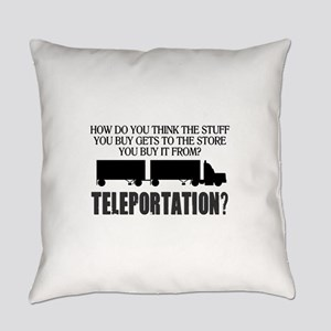 TELEPORTATION Everyday Pillow