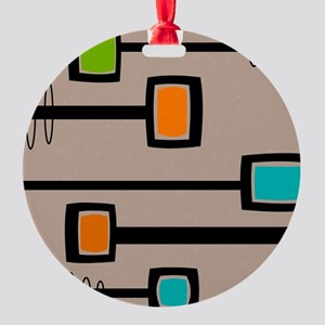 Mid-Century Abstract Art Round Ornament