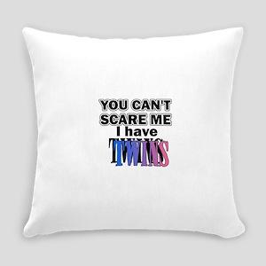 scaretwinspinkblue.... Everyday Pillow